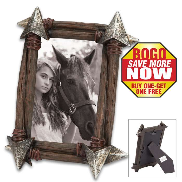 """Savage Arrow Picture Frame - Fits 4"""" x 6"""" Photos or Art - BOGO"""