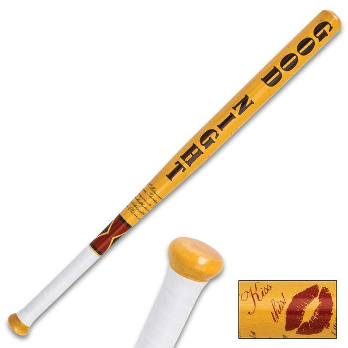 Kiss This Decorative Baseball Bat - Genuine Hardwood Construction, Vivid Designs, Tape Wrapped Handle - Length 32""