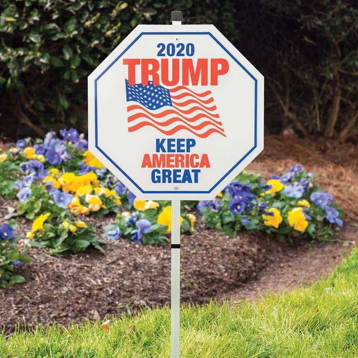 If you're supporting Donald Trump, the Trump Keep America Great 2020 Sign is a must-have for the upcoming Presidential election