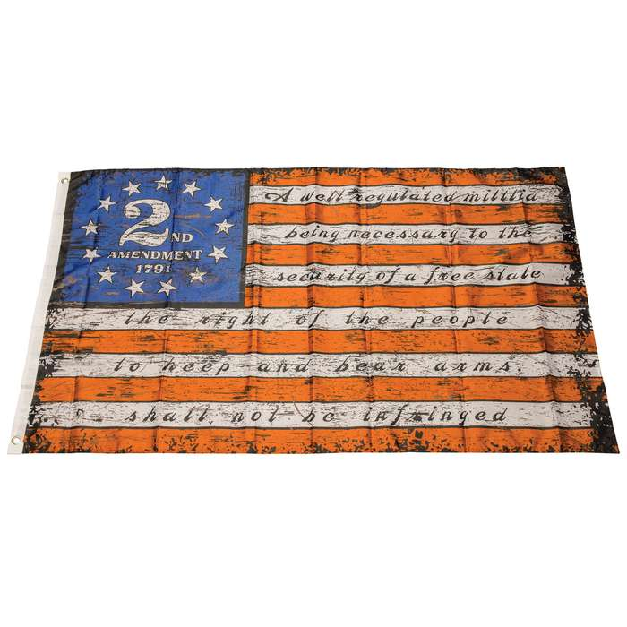 210D nylon construstion Second Amendment Flag - the second amendment is screen printed on the flag