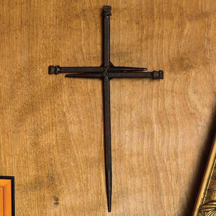 3-Nail Cross Wall Hanging