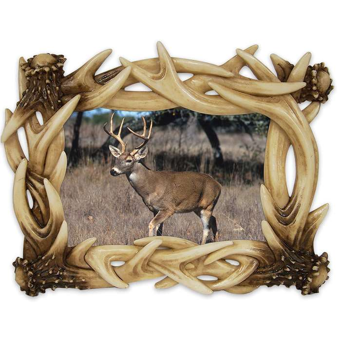 Antler 6x4 Photo Frame - Realistic Looking