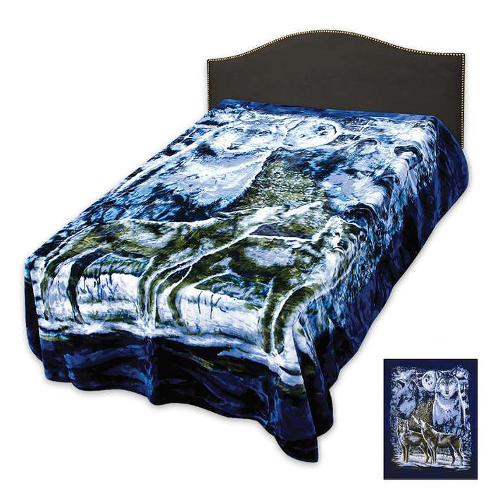 Wolf Pack Queen Size Blanket