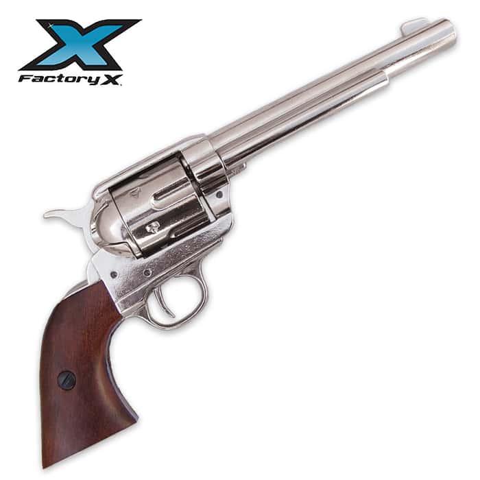 1873 Cavalry Model Revolver Nickel Replica