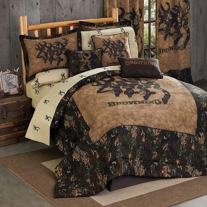 Browning 3D Buckmark Comforter Set - Queen