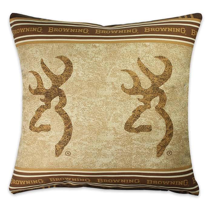 Browning Buckmark Square Pillow