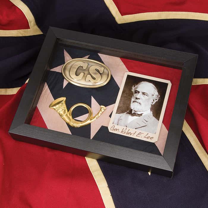 Civil War Shadow Box - Confederacy / Robert E. Lee