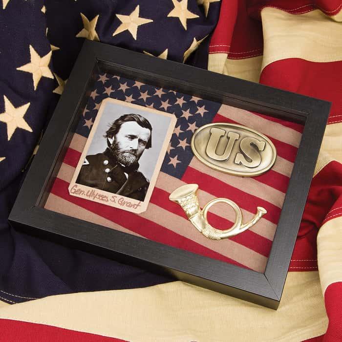 Civil War Shadow Box - Union / Ulysses S. Grant
