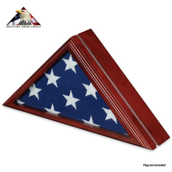 Cherry Congressional Flag Case - 3X5