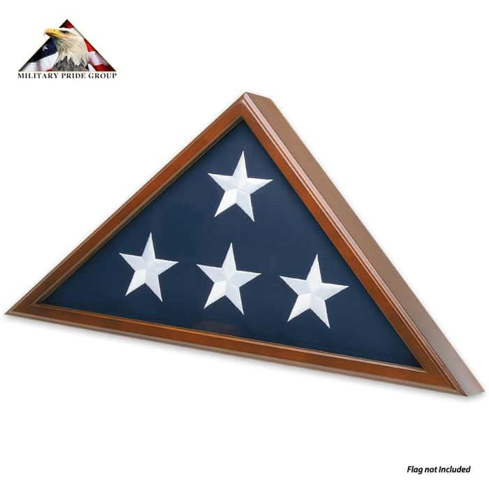 Colonial Hardwood Flag Case - 5X9