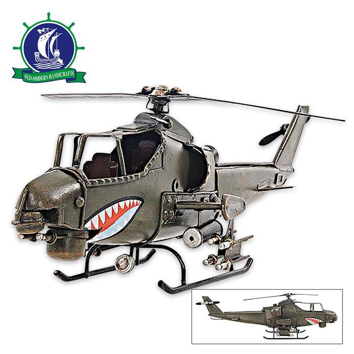 1960 Bell AH-1G Cobra Attack Helicopter | Handcrafted Model US Army Helicopter | 1:16 Scale