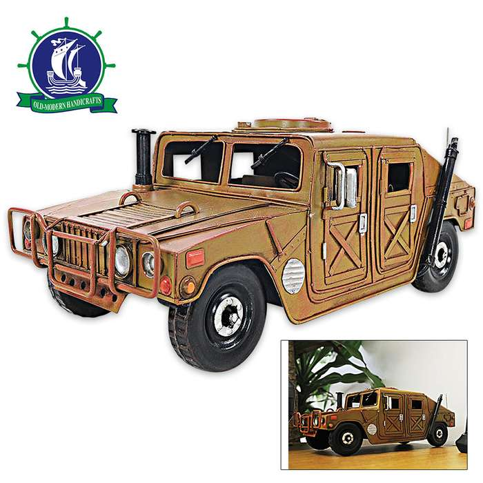 Humvee Multipurpose Military Vehicle | Handcrafted Scale Model | 1:15 Scale