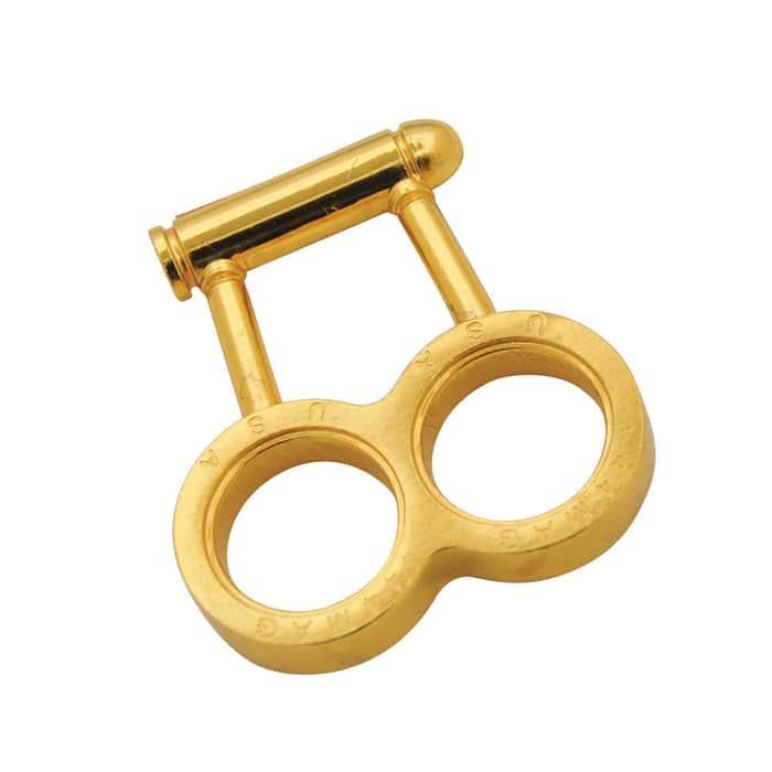 Gold .44 Mag Bullet Brass Knuckles Belt Buckle