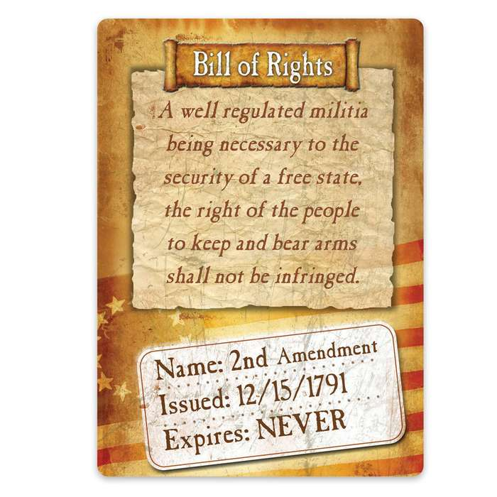 Bill Of Rights Tin Sign