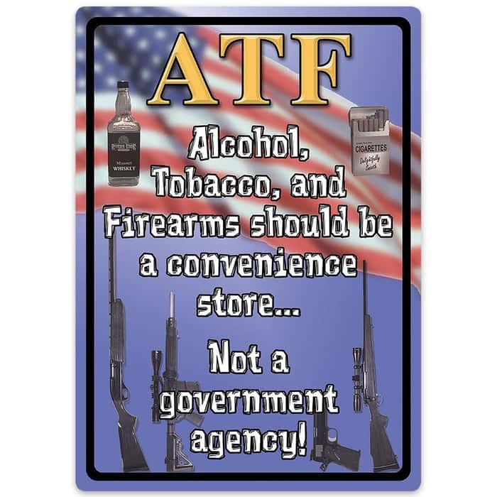 ATF Weatherproof Tin Sign