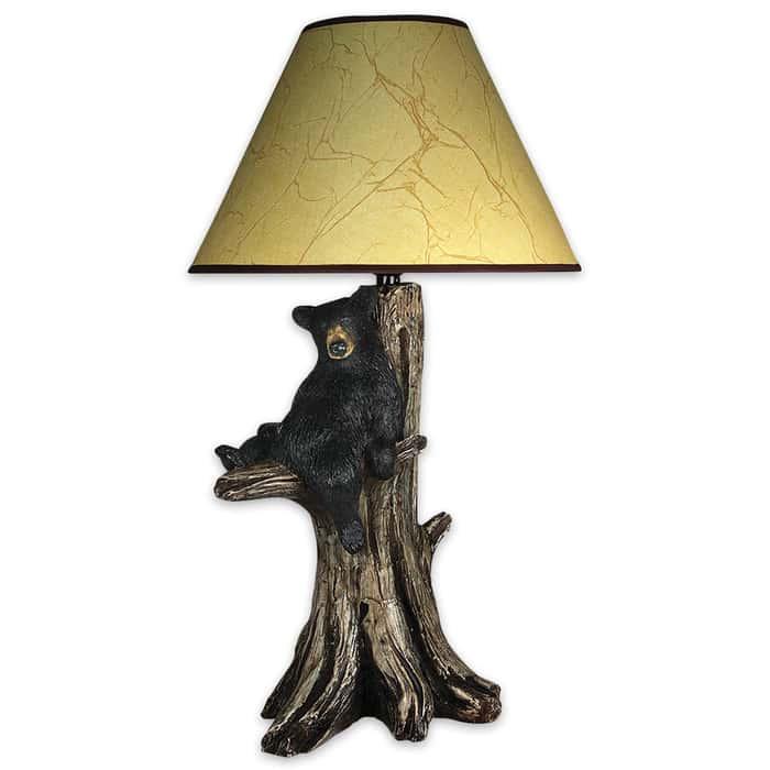 Designer Bear In Tree Table Lamp
