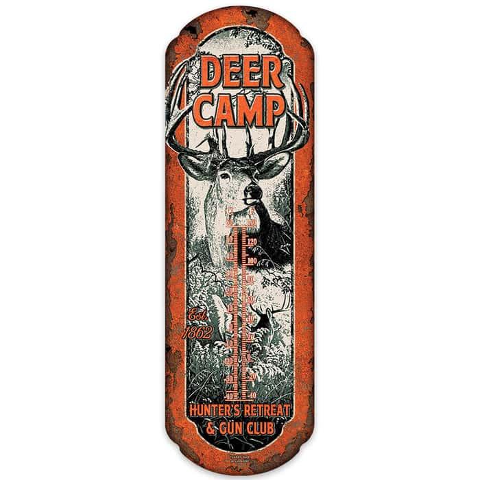 Deer Camp Tin Thermometer