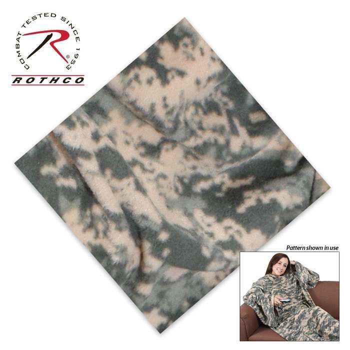 Military Blanket with Sleeves