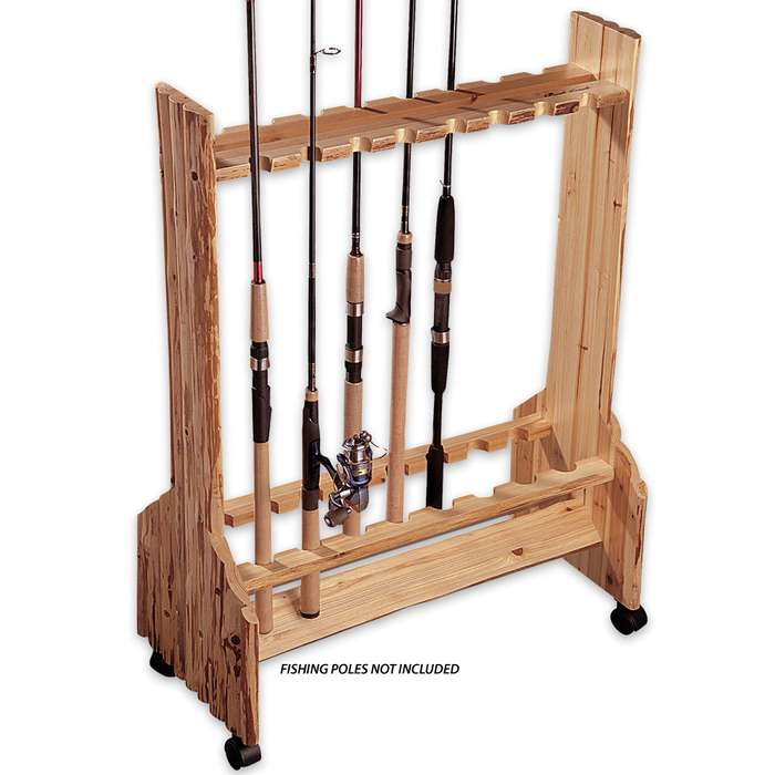 16 Rod Double Sided Rolling Storage Rack