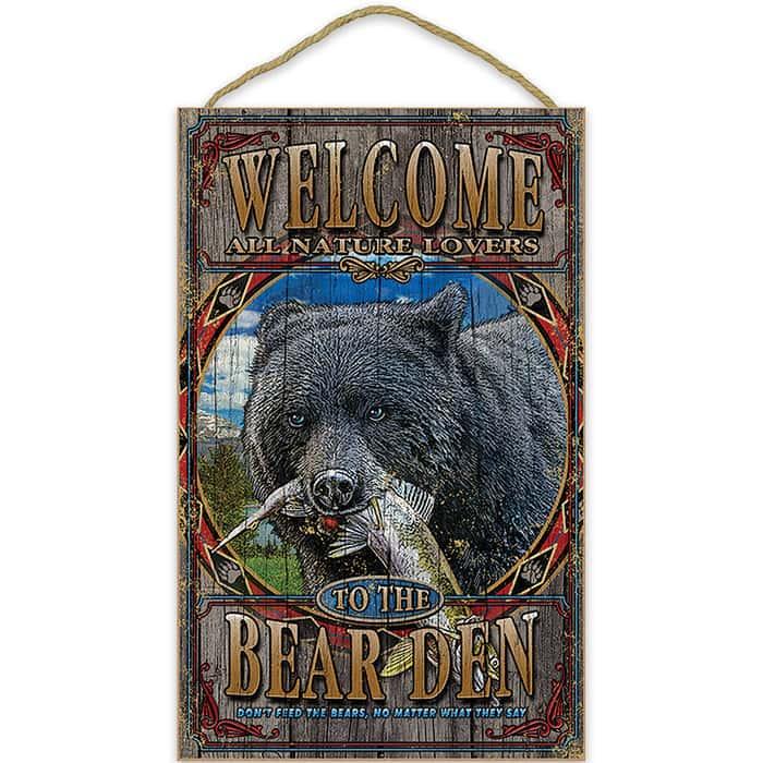 Black Bear Den Welcome Sign