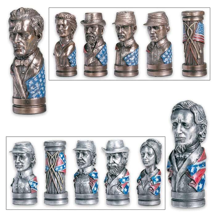Civil War Bust Chess Set