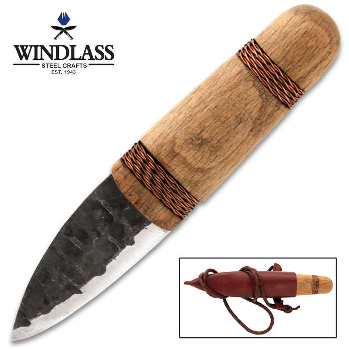 "The Windlass Steelcrafts Copper Age Knife was inspired by a knife found with the ""Iceman"", the earliest mummy unearthed in Europe"