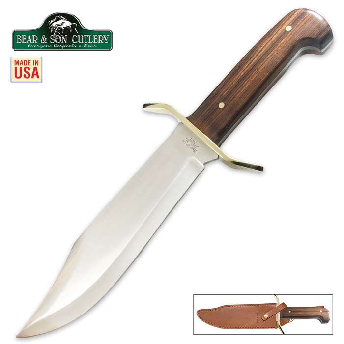 Bear Cocobola Gold Rush Bowie With Sheath