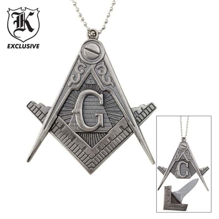 Masonic Necklace Knife