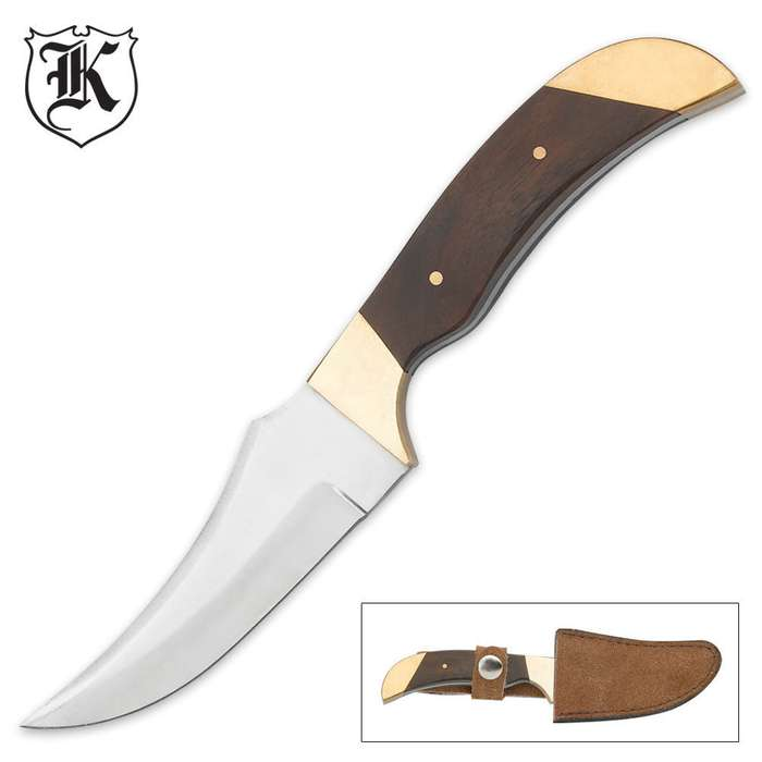 Classic Hardwood Coon Skinner Knife