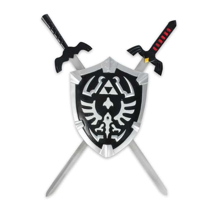 Zelda Shield with 2 Mini Swords
