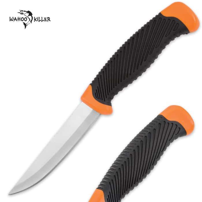 Wahoo Killer Multipurpose Bushcraft / Companion / Fixed Blade Knife - Orange