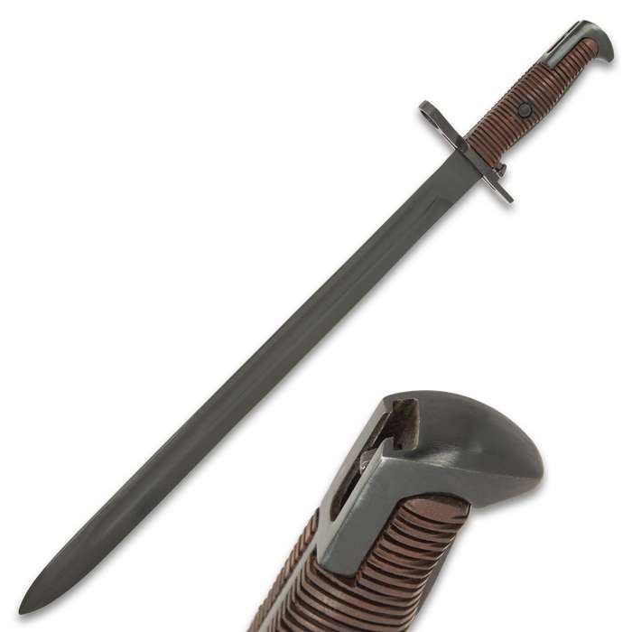 "The bayonet is 20 3/4"" in overall length and it was specifically designed to fit the US M1903 Springfield Rifle"
