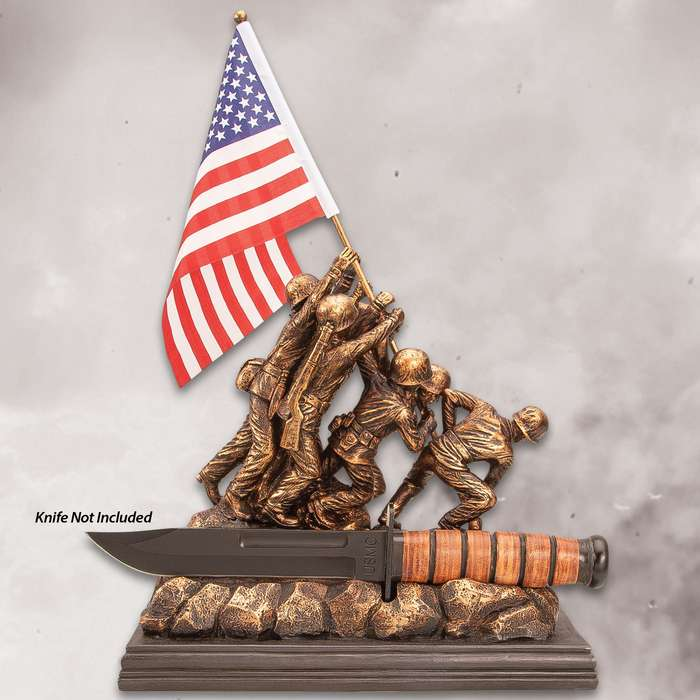 "Raising The Flag At Iwo Jima Sculpture - Intricately Detailed, Accurate Replica Statue - Dimensions 11""x 5""x 17"""