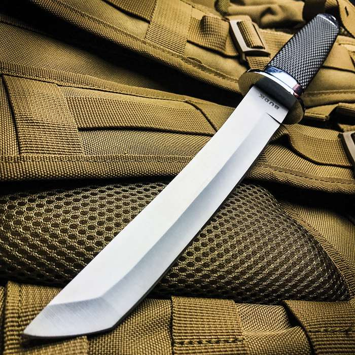 Military Rescue Tanto Knife And Sheath