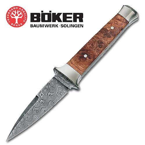 Boker Leo Damascus Boot Knife