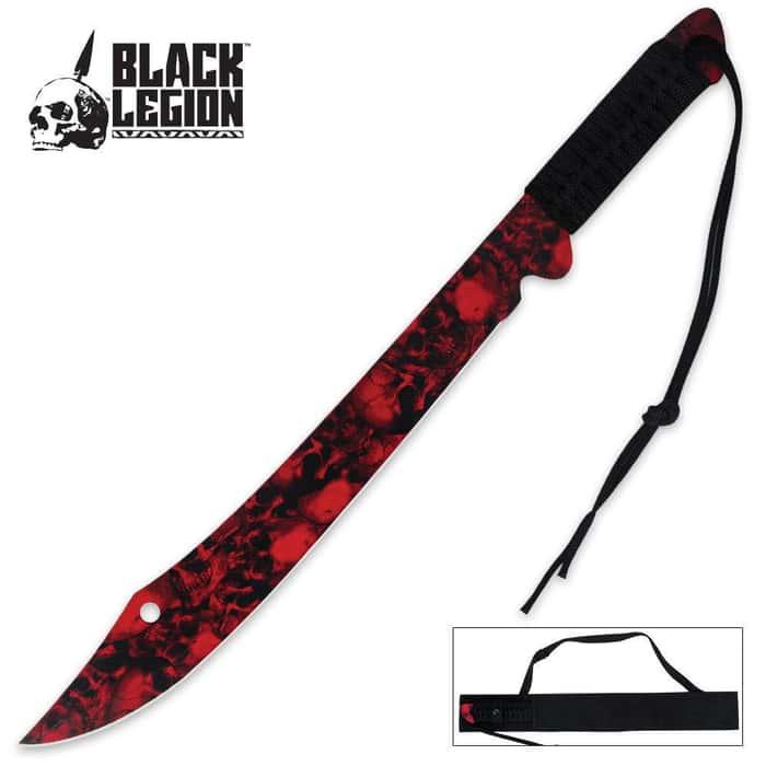 Black Legion Skull Mayhem Sword Red with Sheath