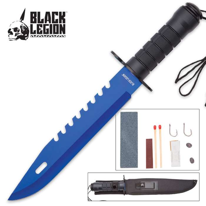 Blue Bayonet Survival Fixed Blade Knife