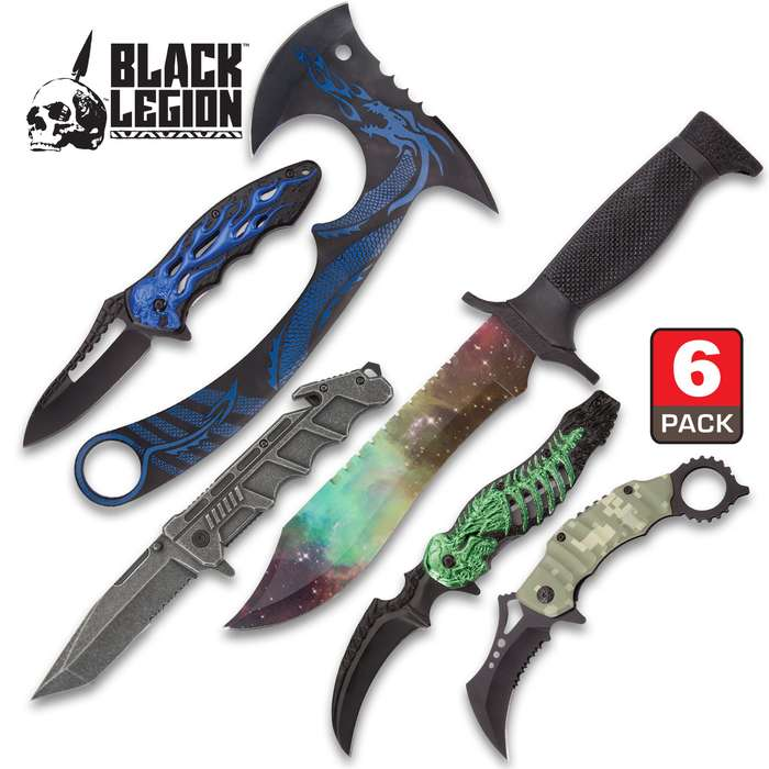 Fantasy Blade Starter Set - Six Pieces, Stainless Steel Blades, TPU Handles, Variety Of Knives