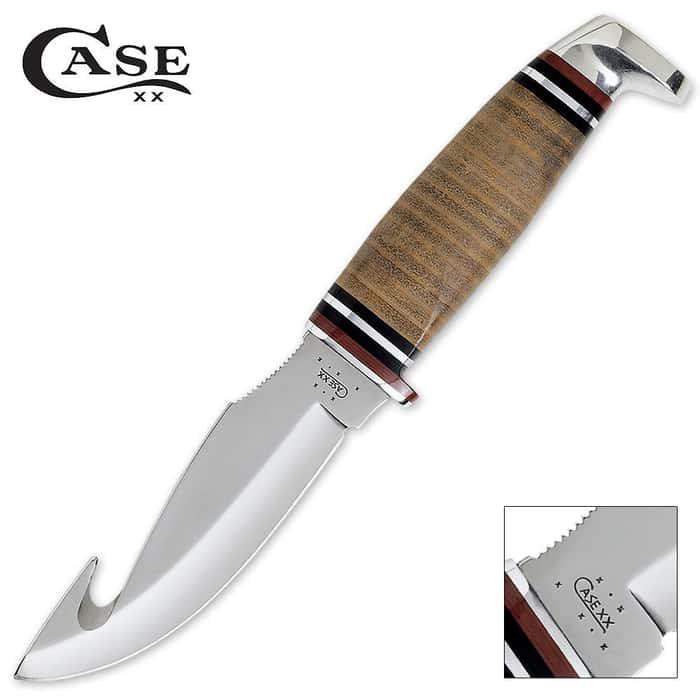 Case Leather Gut Hook Hunter Knife