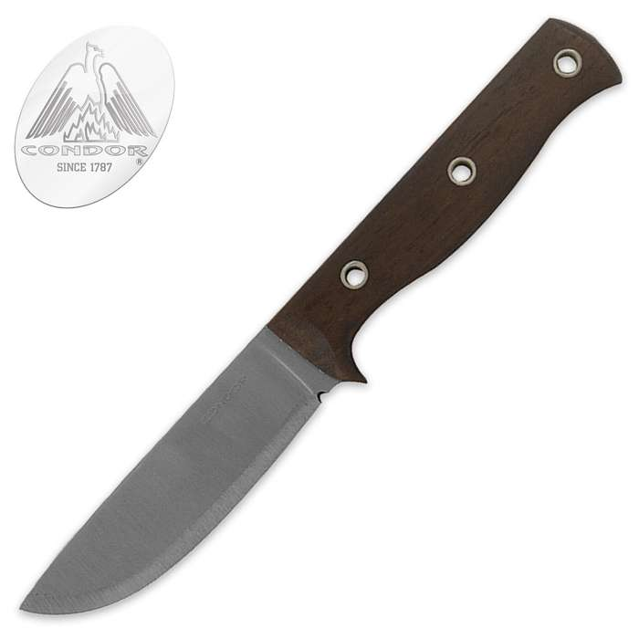 Condor Swamp Romper Fixed Blade Knife With Dark Walnut Handle