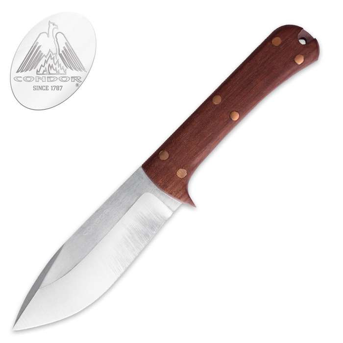 Condor Two Rivers Skinner Knife With Sheath