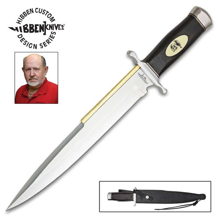 "Gil Hibben ""Expendables 2"" Toothpick Knife And Leather Sheath"