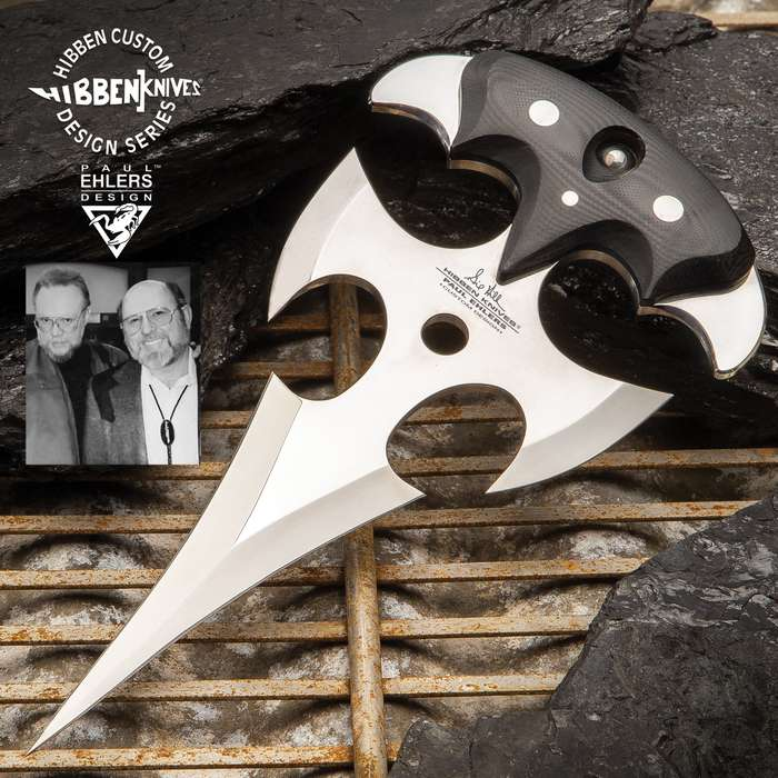 Gil Hibben And Paul Ehlers Collaboration The Gremlin Push Dagger - Stainless Steel Blade