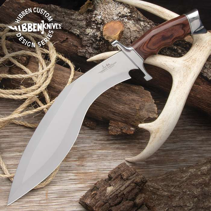 The new Hibben Kukri Fighter Knife, crafted by noted knife designer Gil Hibben, really is a beast of a kukri knife
