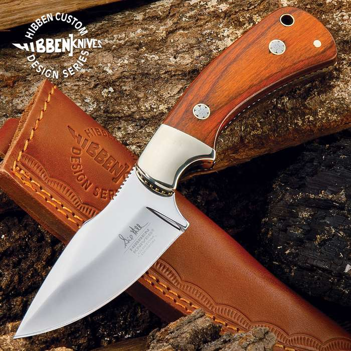 Made for hard everyday use, this is a smaller fixed-blade designed by Gil Hibben to fit comfortably on your side