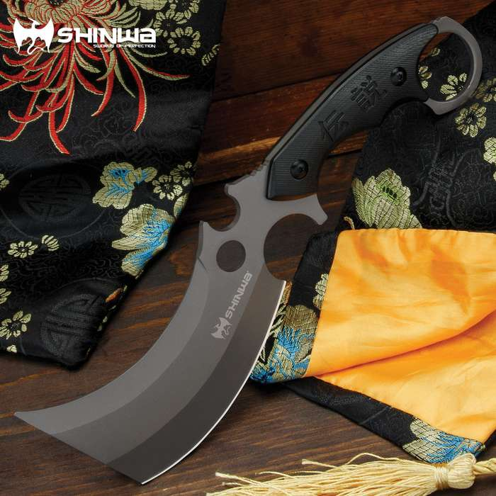 This Shinwa knife takes the common cleaver and kicks it into high gear with a blade that more than gets the job done