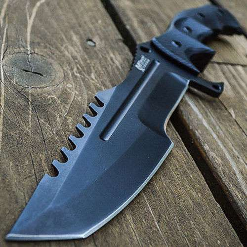 Huntsman Tactical Fixed Blade Knife With Sheath