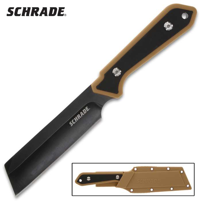 The Schrade Straight Edge Fixed Blade Knife is a great utility knife to add to your everyday carry gear