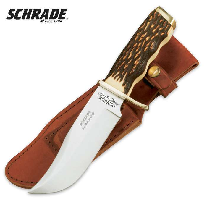 Schrade Uncle Henry Pro Hunter Knife with Sheath