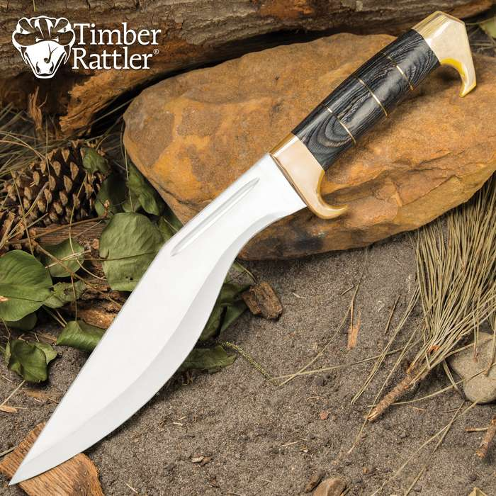 The Timber Rattler Grey Gurkha is a great workhorse fixed blade with a design that's been in practical use for hundreds of years